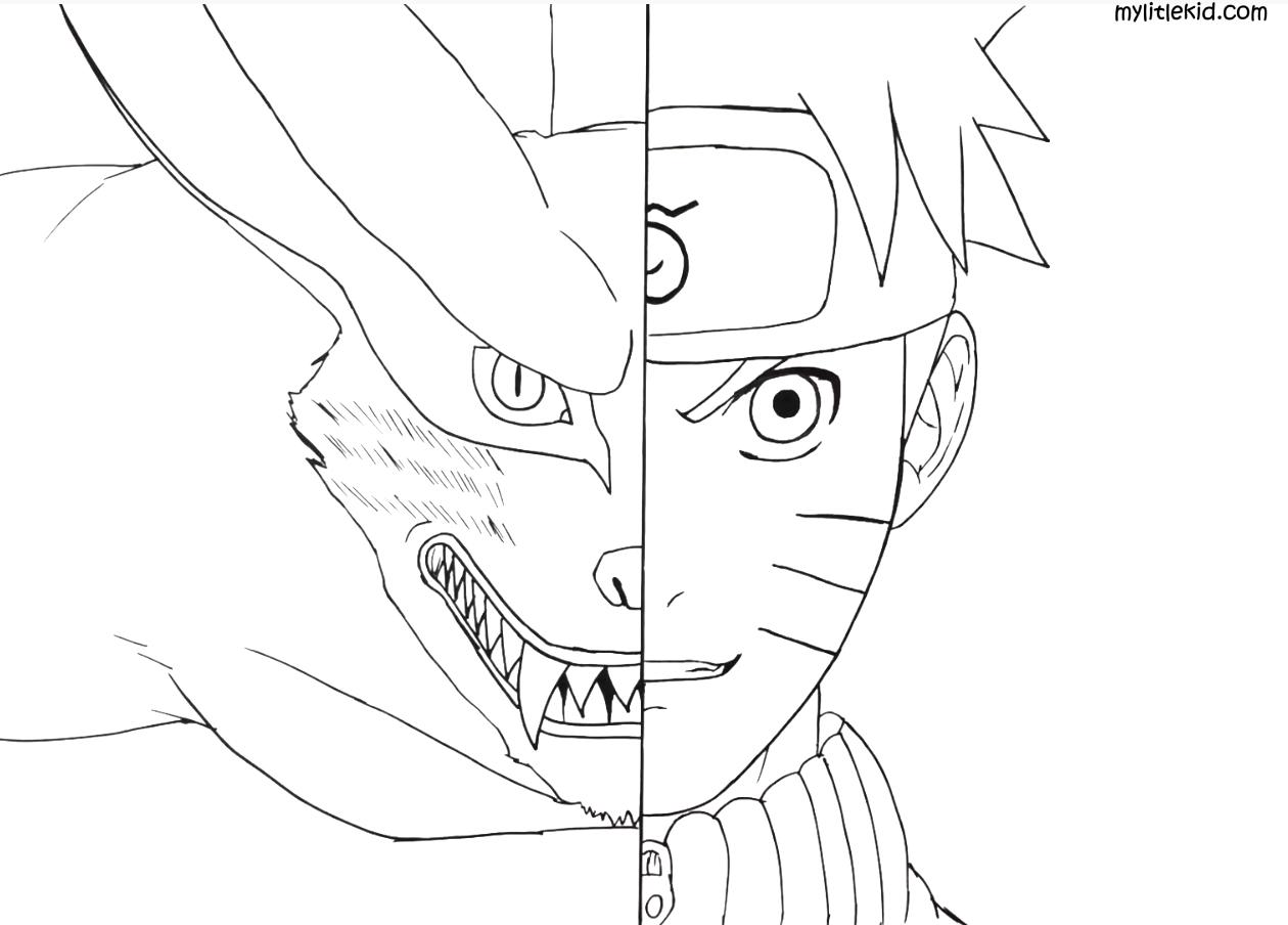 Anime Naruto Ausmalbilder - drucken oder kostenlos herunterladen.